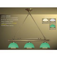 Lampa bilardowa 3pł. Linea S3RM20E klosz Ø 19,5cm z ramką - ecru zielony IKARO