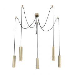 Locus L Lamp 5-flame chandelier Azzardo AZ3407 champagne gold