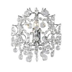 ROSENDAL crystal wall lamp chrome Markslojd 102335