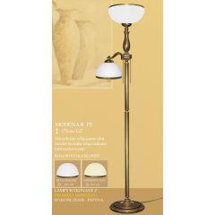 Lampa podłogowa 2 płom. Modena R klosz opal biały krem Ø 30cm góra Ø 20cm boczny RP2 RP2E ICARO