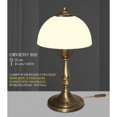 Lampa stołowa ORVIETO klosz biały krem B1 ICARO