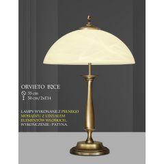 Lampa gabinetowa 2 płomienna ORVIETO klosz biały krem B2C ICARO