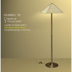 Lampa podłogowa 4 płom. Olimpia klosz witrażowy 40cm beżowy P1 ICARO