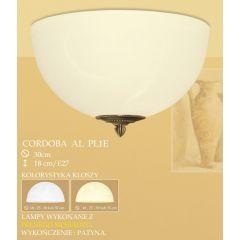 Plafon 1 płom. CORDOBA AL klosz alabaster Ø 30cm biały krem PL1 ICARO