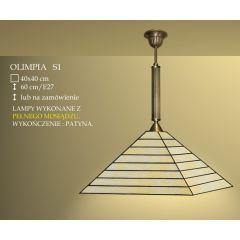 Lampa wisząca 1 płom. Olimpia klosz witrażowy 40cm beżowy S1 ICARO