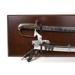 Polish officer's saber with scabbard, model 21/22, hardened, hanging tablo + leather handle & diagonal belt FREE