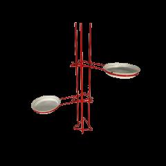 Kwietnik rozporowy metalowy czerwony Eurotax