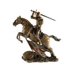 Rycerz na koniu w wyskoku - Figurka Veronese WU73737A4