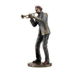 Muzyk jazzowy grający na trąbce - Figurka Veronese WU77173A5