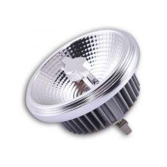 LED QR111 LED bulb 12V 17W 45 ° G53 white frame Azzardo LL153171