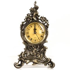 Brass clock BAROQUE, excellent quality, large dial